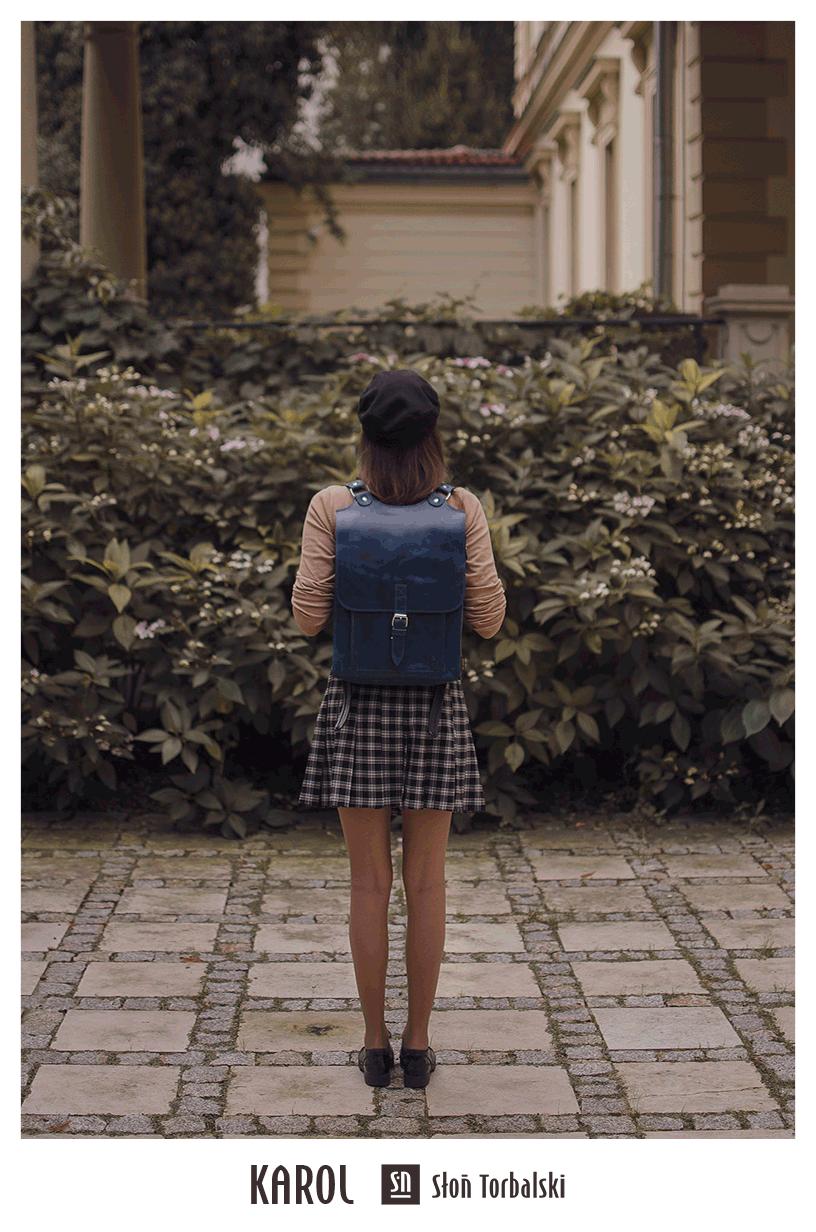 Skórzany plecak handmade