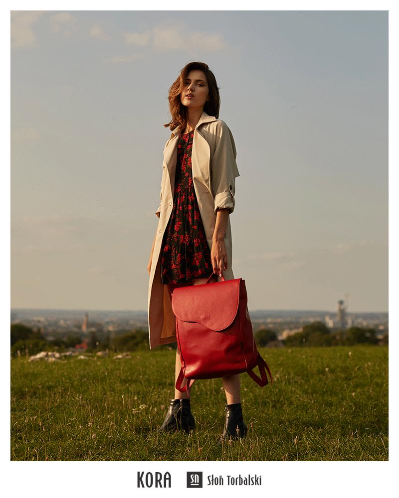 Skórzany plecak vintage