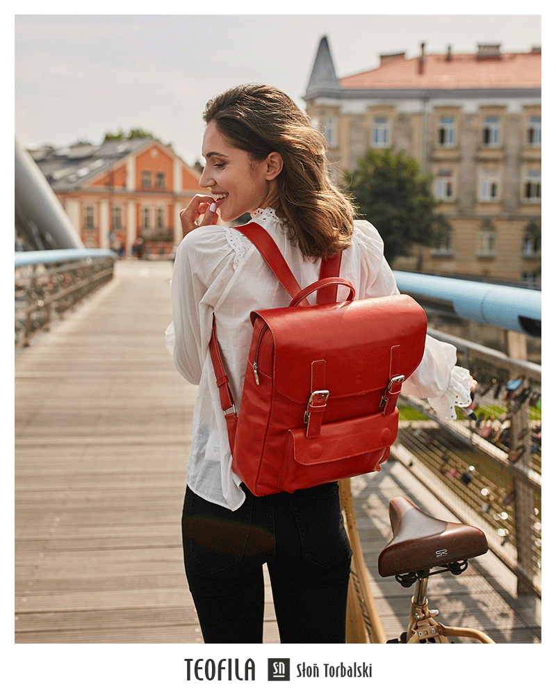 Skórzany plecak na laptopa Teofila